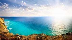 Ocean View From Atop Cliff