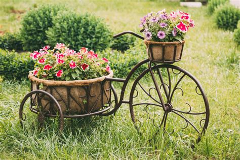 large wood planter 33 bicycle flower planters for the garden or yard