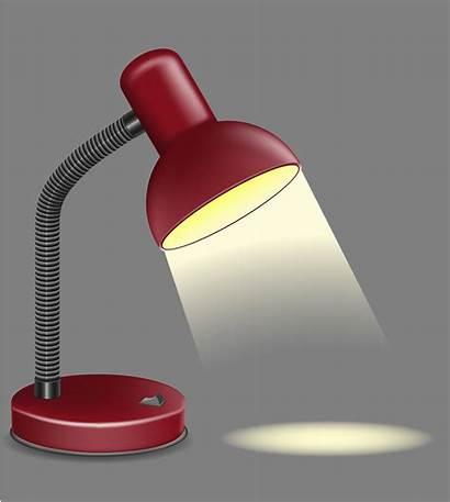 Lamp Vector Table Illustration Lighting Clipart Vectors
