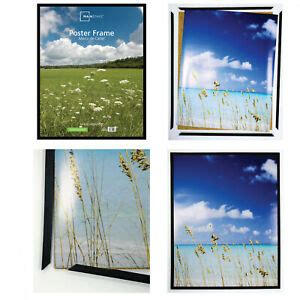 thin poster picture frame black durable plastic horizontal vertical  pc  ebay