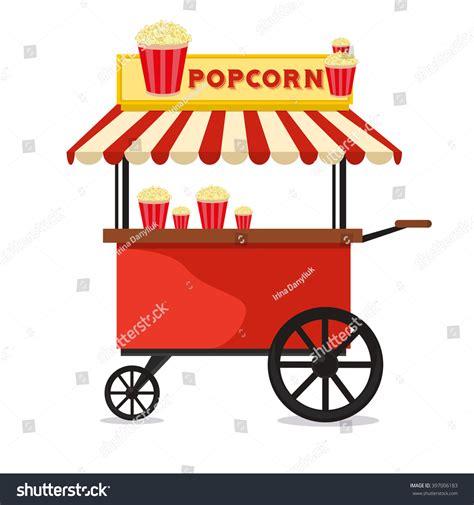Popcorn Cart Carnival Store Fun Festival Stock Vector ...