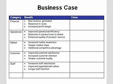 Business Case Template Excel 3 5 Year Business Plan