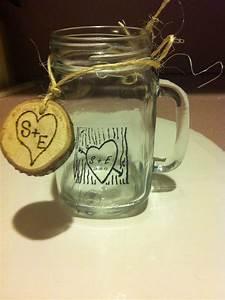 mason jar mug as wedding favor wedding pinterest With mason jars wedding favors
