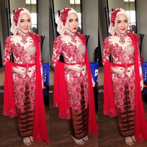 model baju kebaya muslim terbaru remaja kombinasi batik kumpulan model kebaya modern