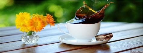 morning coffee  flowers facebook cover photo fbcovercom