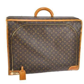 louis vuitton pullman  trunk canvas brown monogram leather weekendtravel bag   retail