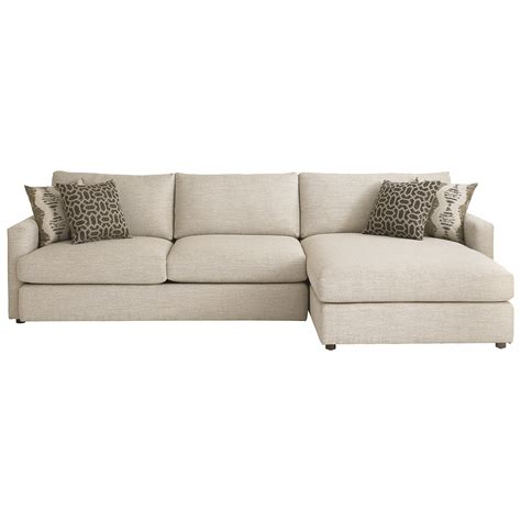right facing chaise sectional bassett contemporary sectional with right arm