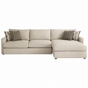 Bassett allure contemporary sectional with right arm for Bassett sectional sofa with chaise