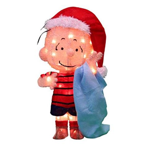 peanuts 3d 18 in pre lit tinsel linus with blanket outdoor