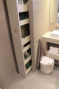Rangements Salle De Bain : 5 astuces pour optimiser les rangements dans une salle de bain ~ Nature-et-papiers.com Idées de Décoration