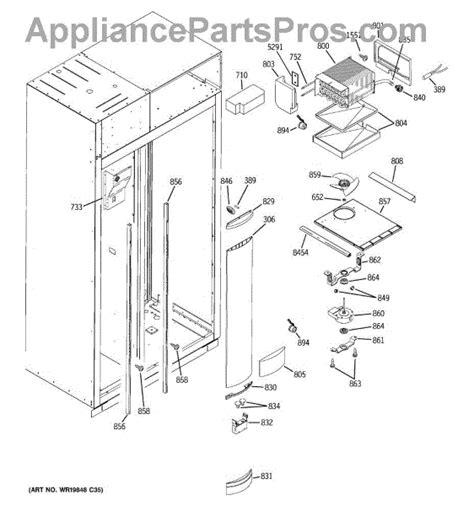parts  ge zispdtbss freezer section parts appliancepartsproscom