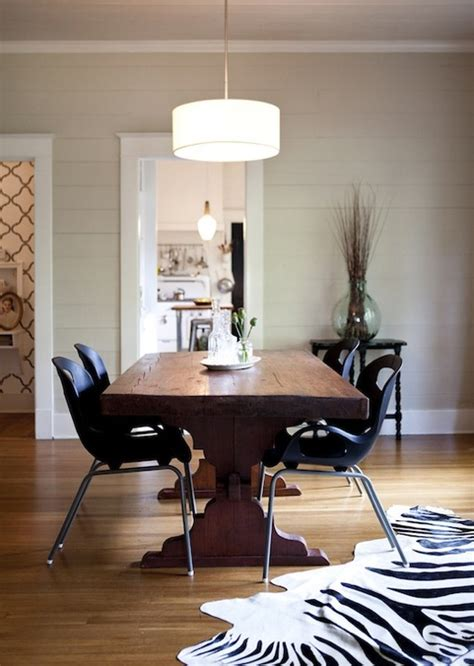 riveted mesh  chandelier transitional dining room