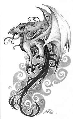 23 Best Girly Dragon Tattoo Drawings images | Dragon tattoo drawing, Tattoo drawings, Dragon