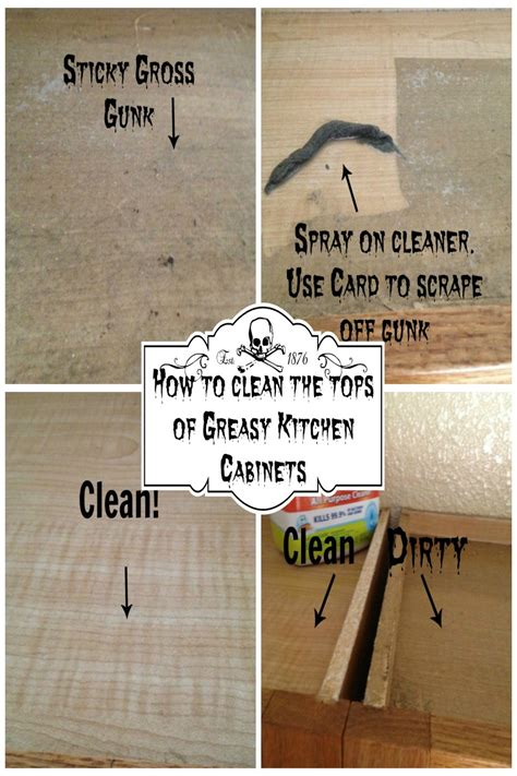 how to get grease and grime kitchen cabinets how to clean the tops of greasy kitchen cabinets secret 9904