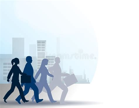 The Rat Race People In City Stock Vector