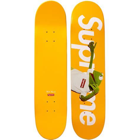 image supreme kermit skate deck yellow jpg muppet wiki