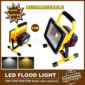 Battery powered portable floodlights : Amusing battery powered portable led flood lights on