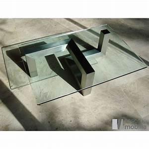 Table Basse Verre Design : table basse design verre et acier essentia mobilia ~ Teatrodelosmanantiales.com Idées de Décoration