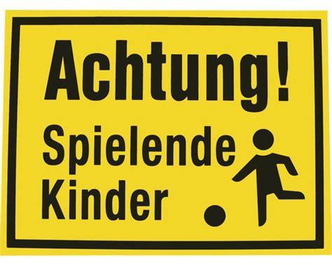 warnschild spielende kinder warnschild achtung spielende kinder 300x400 mm bei
