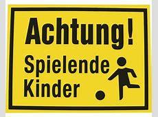 Warnschild Achtung spielende Kinder 300x400 mm bei