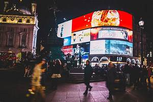 Free, Images, People, Road, Street, Night, City, Crowd, Dark, Busy, Evening, Color, London
