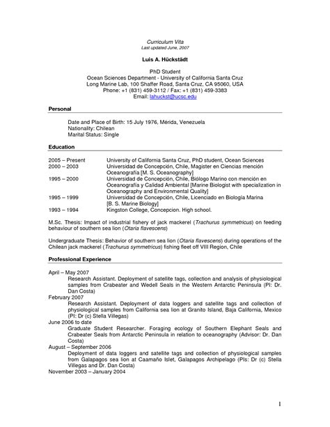 Student Cv Template by Cv Template Phd Student Student Resume Student Resume