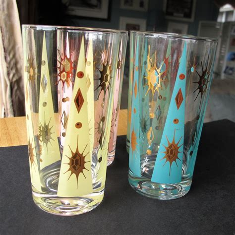 Vintage Barware Glasses by Vintage Fred Press Glasses Retro
