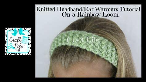 craft life knitted headband head wrap ear warmers tutorial