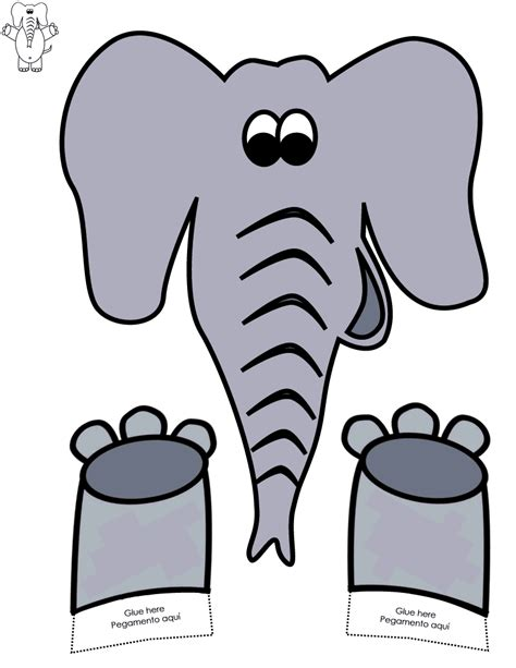 elephant paper bag puppet elephant paper bag puppet color http www 4397