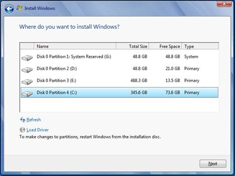 what is windows installer missing quot disk options advanced quot on windows 7