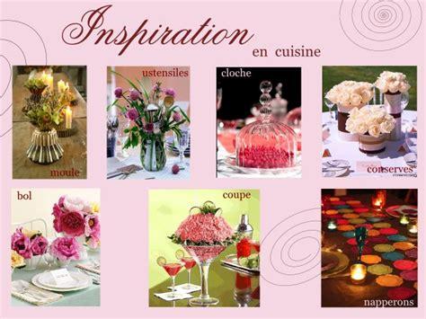centre de table de cuisine theme mariage gourmandise