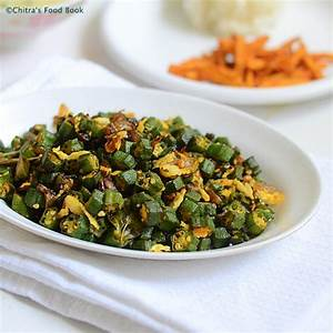 Vendakkai Poriyal/Okra Stir Fry Recipe-Lady's Finger ...