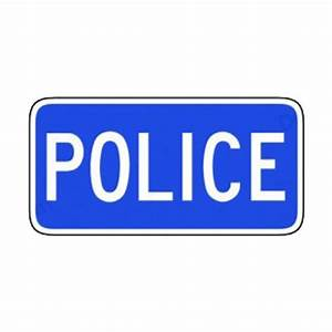 Police station sign road signs decals, decal sticker #8113