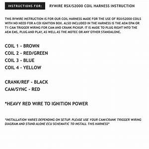 Rsx  S2000 Coil Harness Instructions