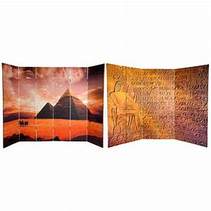 buy 6 ft tall double sided egyptian pyramid canvas room With kitchen cabinets lowes with egyptian pyramid wall art