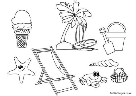 spiaggia disegni estate colorati estate disegni per bambini da colorare tuttodisegni