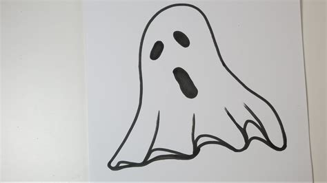 How to Draw a Ghost. Easy Drawing Ideas for Halloween ...