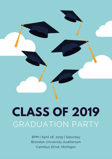 customize  graduation poster templates  canva