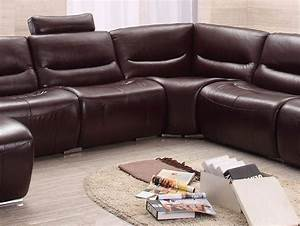 Big Sofa Vintage : extra large spacious italian leather sectional sofa in brown san diego california esf 2144 ~ Markanthonyermac.com Haus und Dekorationen