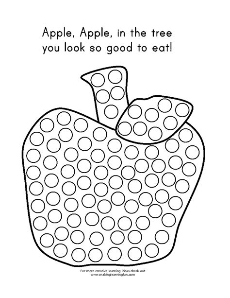 dot painting templates learning printables for