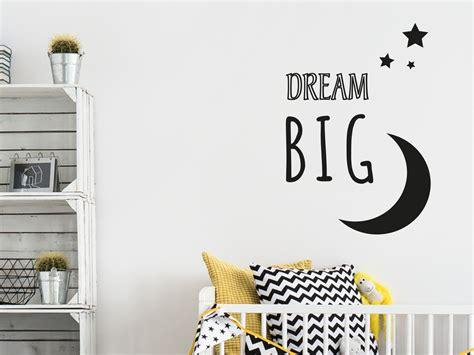muursticker dream big met sterren en maan