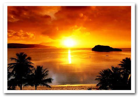 paradise sunset sunset framed art giclee art print