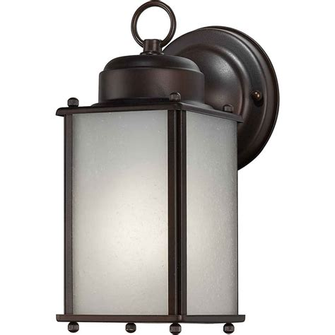 shop 10 in h antique bronze outdoor wall light at lowes