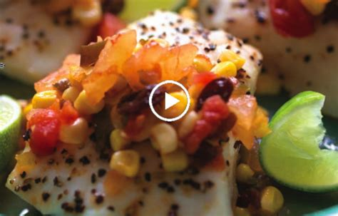 pineapple chutney fish corn grouper