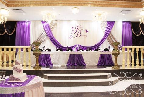 wedding decor purple and silver quinceanera backdrop idea an backdrop with royal purple and silver satin accents