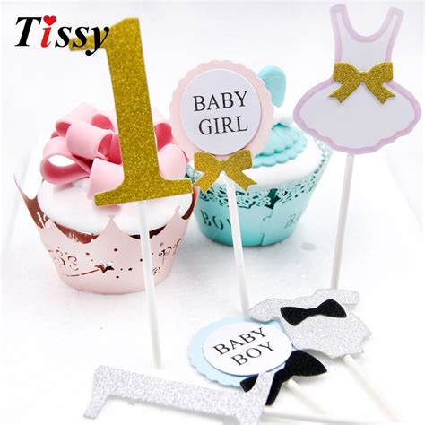 12pcs lot happy birthday cake topper for 1 year old baby