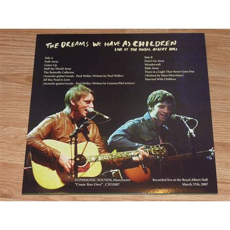 10 years of noel gallagher's high flying birds?? The dreams we have as children lp white by Noel Gallagher ...