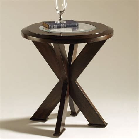 accent table ls contemporary magnussen t1253 roxboro wood round end table