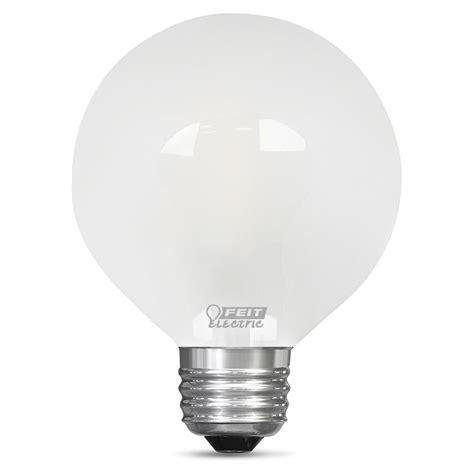 led light daylight feit electric 60 watt equivalent daylight g25 dimmable