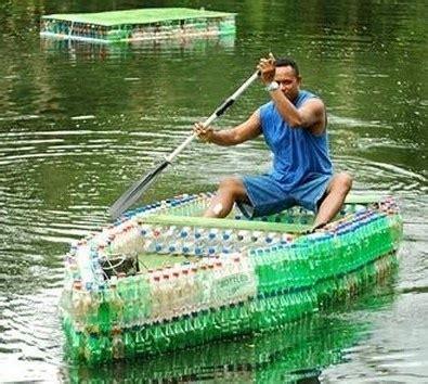plan de travail cuisine bambou barques et radeaux fabriqués en bouteilles plastique